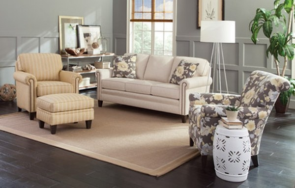 Smith Brothers 234 Sofa Available In Fabric Or Leather
